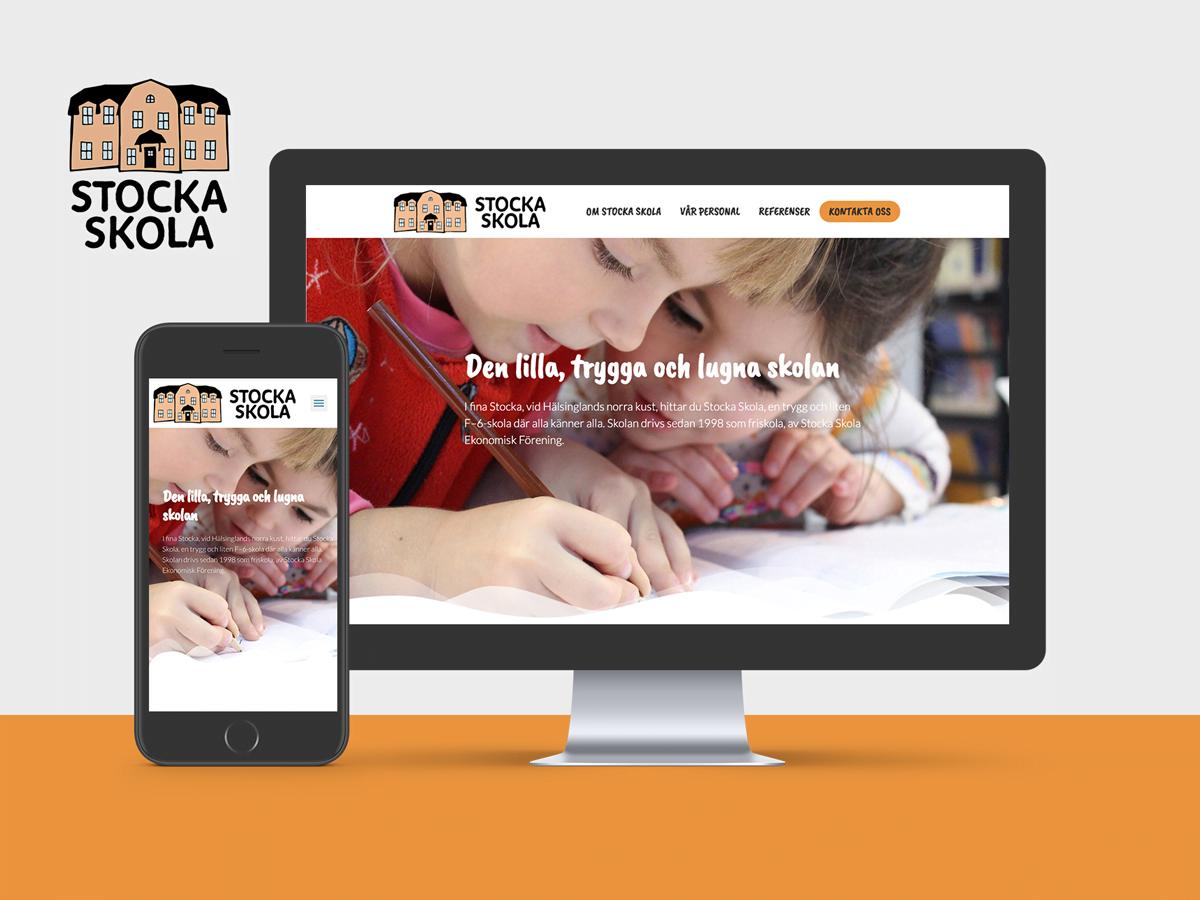 Grafisk profil, websida och marknadsföring.